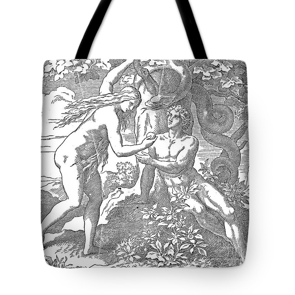 Adam Tote Bag featuring the photograph Adam & Eve by Granger