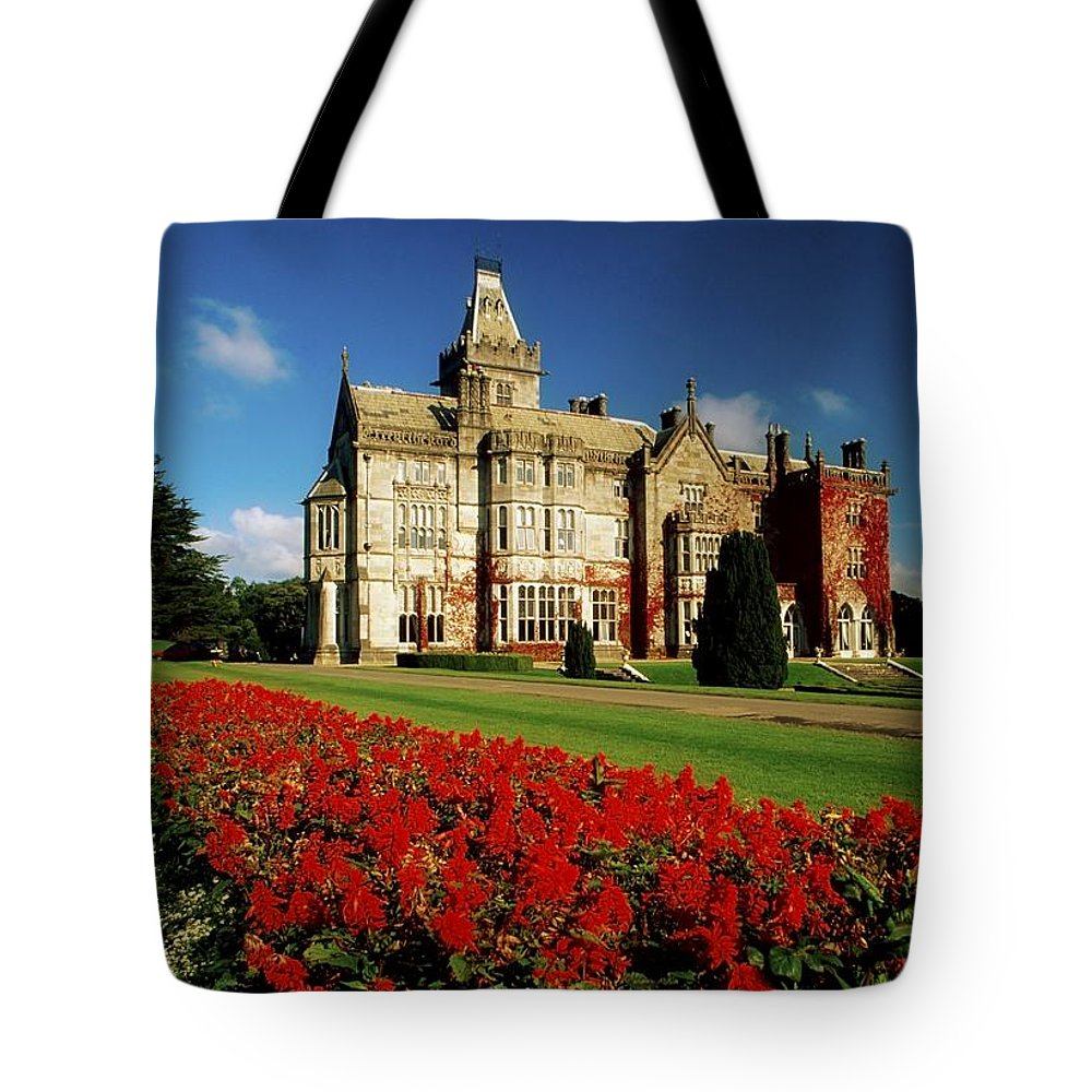 Architectural Exterior Tote Bag featuring the photograph Adare Manor, County Limerick, Ireland by Richard Cummins