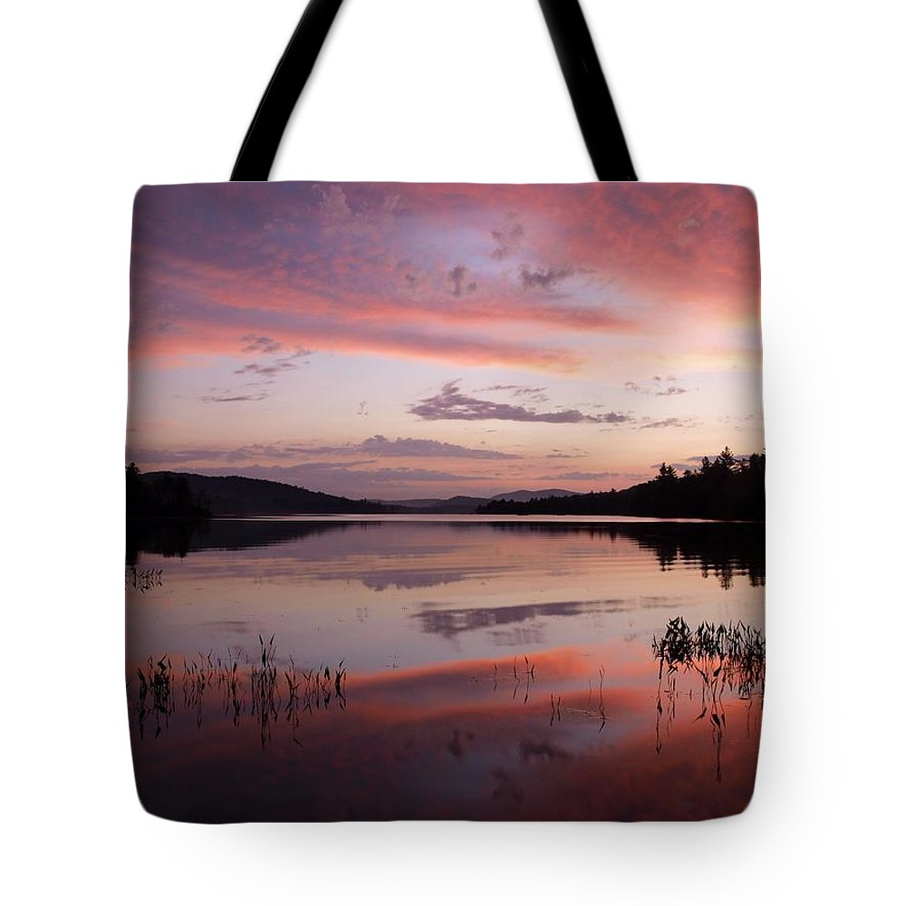 Adirondack Tote Bag featuring the photograph Adirondack Reflections 1 by Joshua House