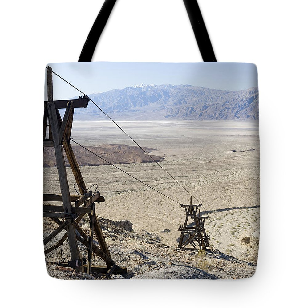 Color Image Tote Bag featuring the photograph Aerial Once Used To Transport Gold by Pete Ryan