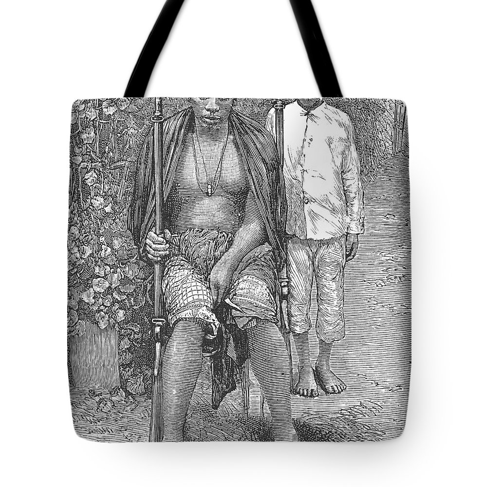 1889 Tote Bag featuring the photograph Africa: Makololo Chief by Granger