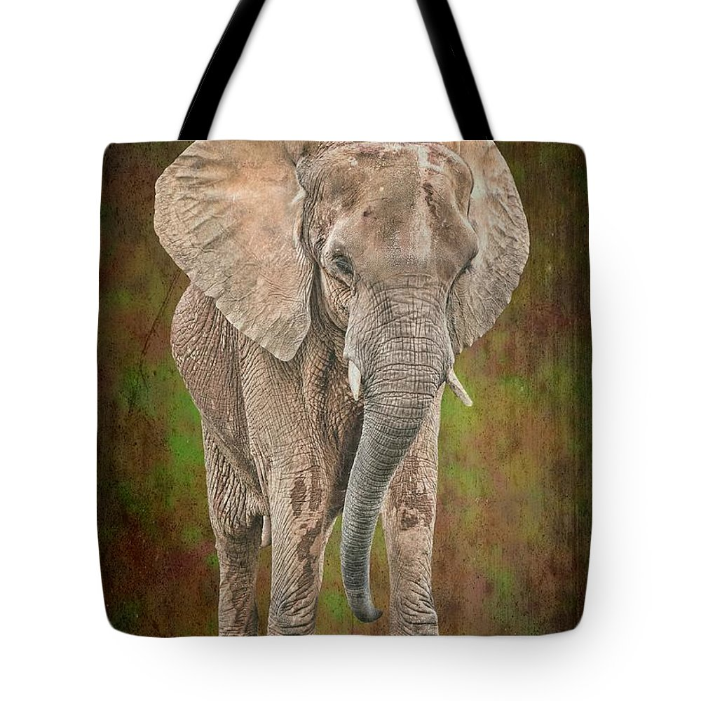 Isolated Tote Bag featuring the photograph African Elephant by Rudy Umans