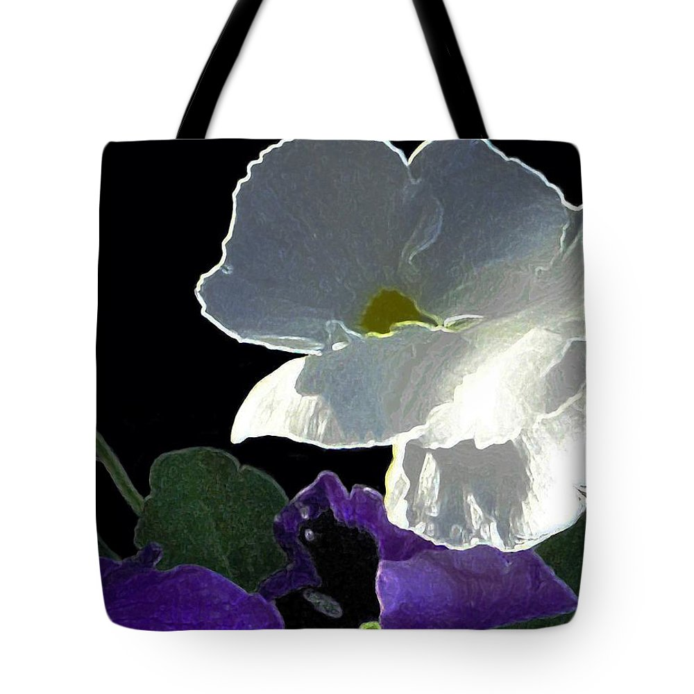 Flowers Tote Bag featuring the digital art African Violets by Dale  Ford