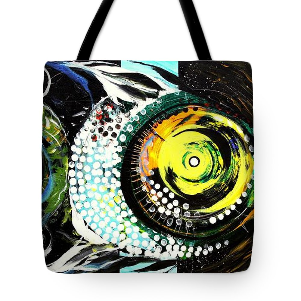 Fish Tote Bag featuring the painting After Acidfish 72 by J Vincent Scarpace
