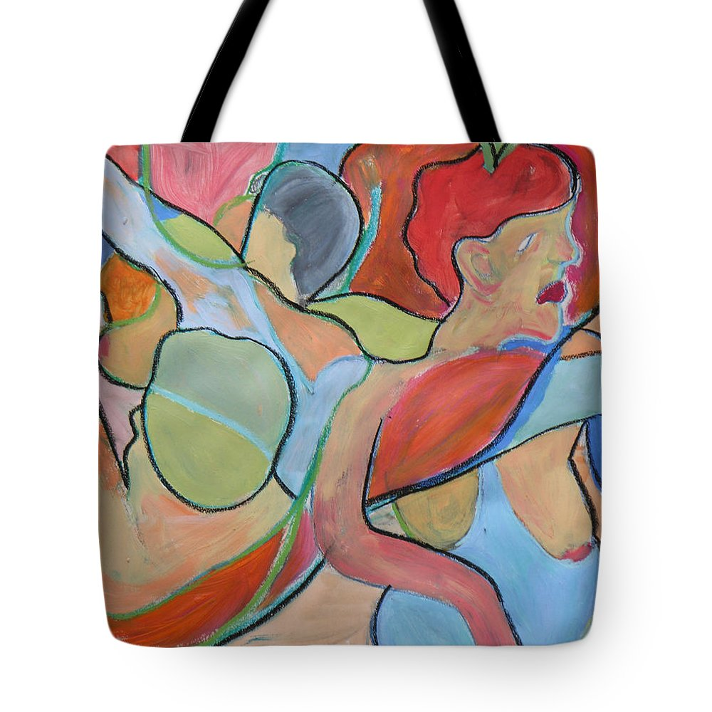Paintings Tote Bag featuring the painting After Picasso by Robert P Hedden