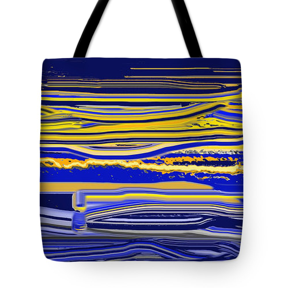 Abstract Tote Bag featuring the digital art Afternoon Stretch by Ian MacDonald