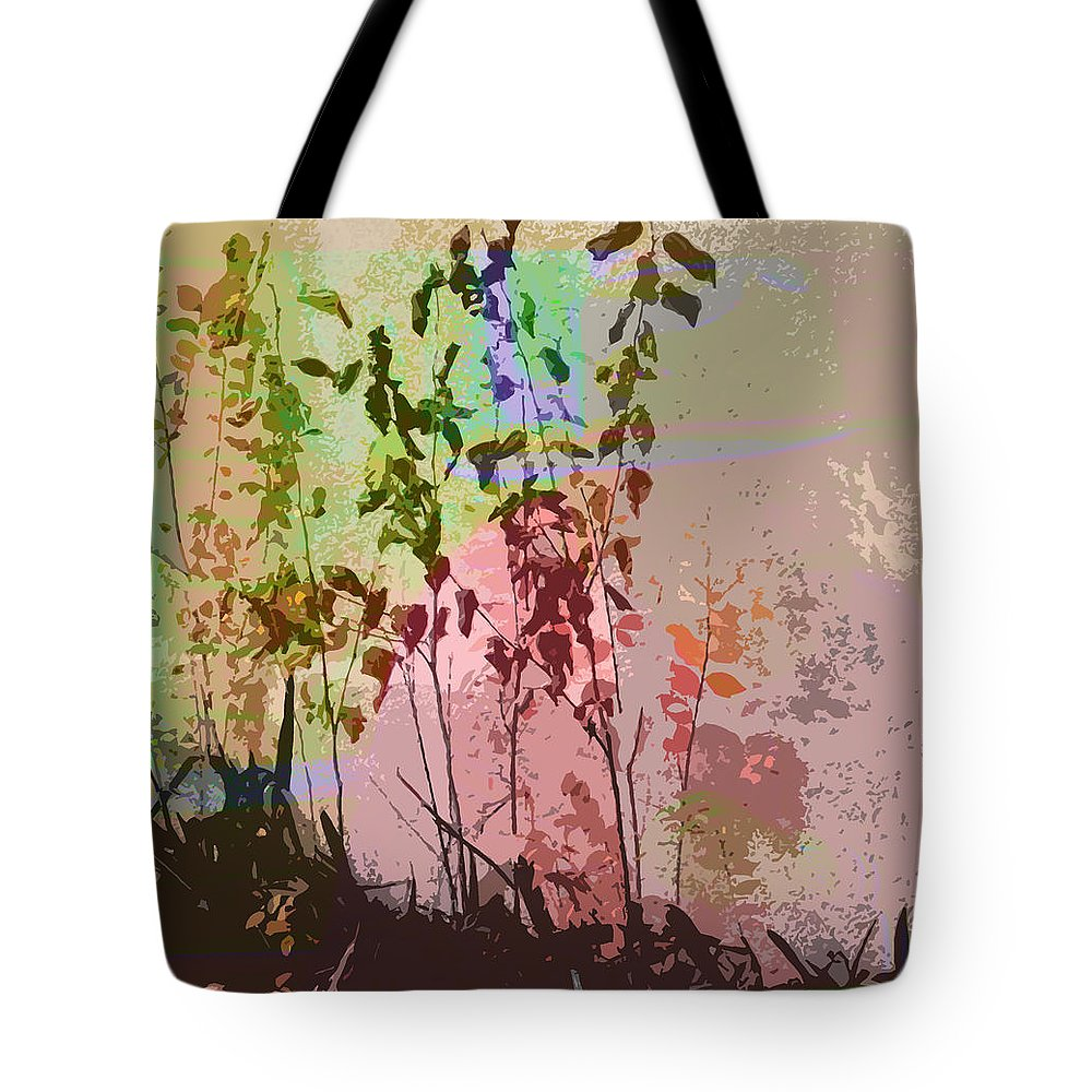 Abstract Tote Bag featuring the photograph Against The Wall by Lenore Senior
