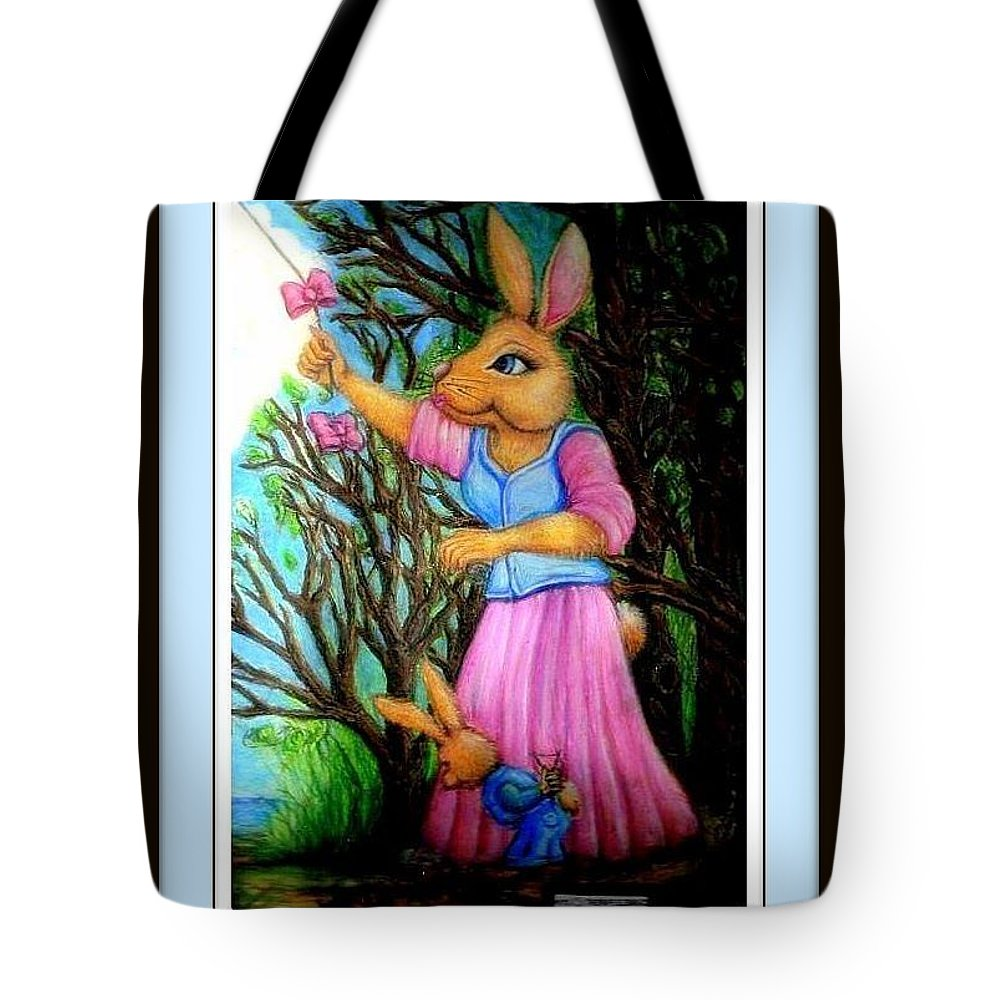 Children Book Posters Tote Bag featuring the painting Againsts The Wind by Danielle Parent
