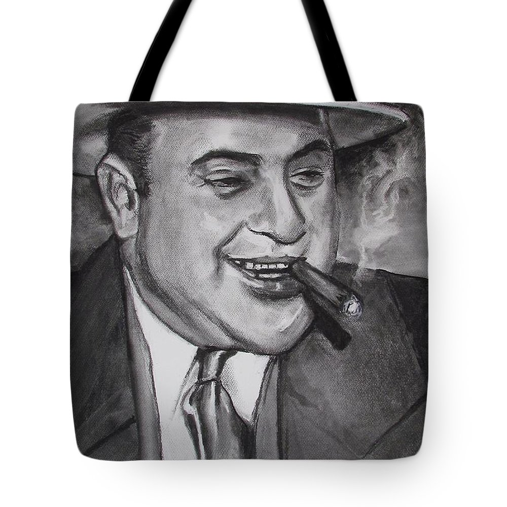 Al Capone Tote Bag featuring the painting Al Capone 0G Scarface by Eric Dee