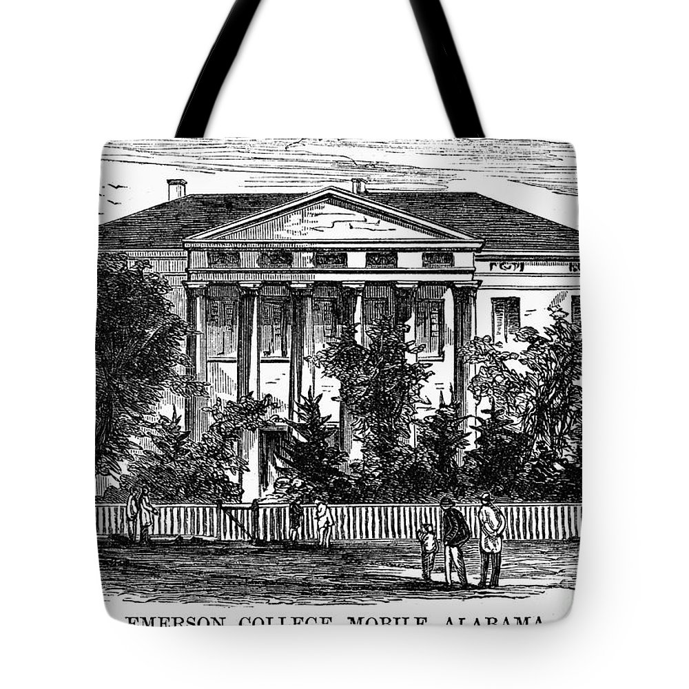 1868 Tote Bag featuring the photograph Alabama: Emerson College by Granger