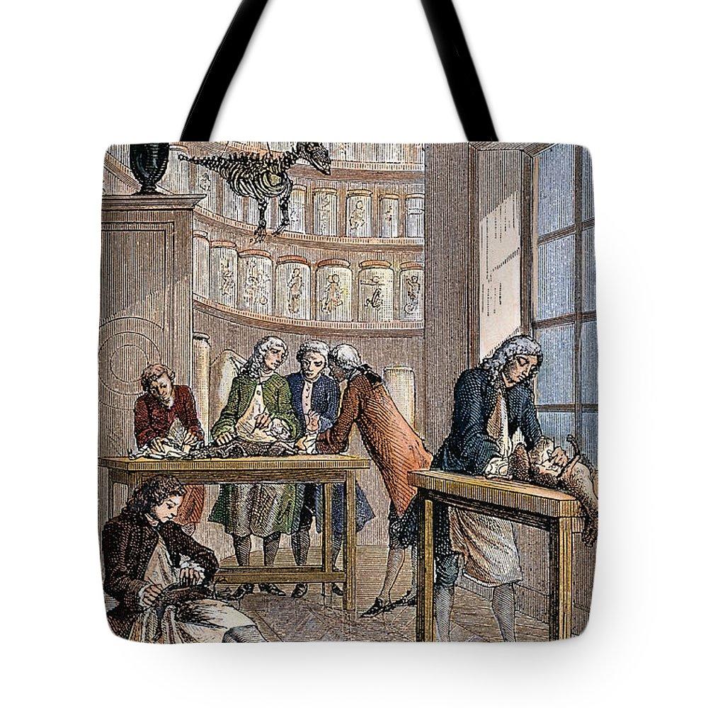 18th Century Tote Bag featuring the photograph Albrecht Von Haller In Lab by Granger