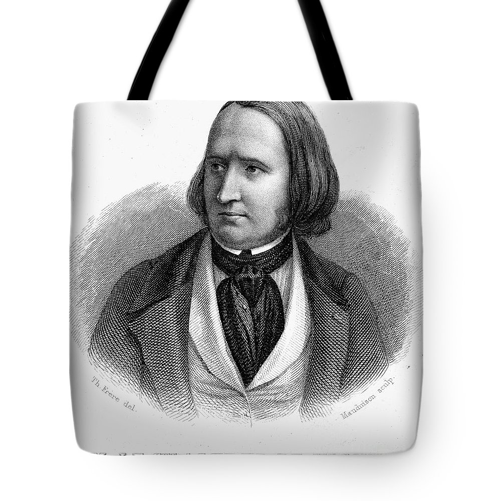19th Century Tote Bag featuring the photograph Alfred Victor De Vigny by Granger