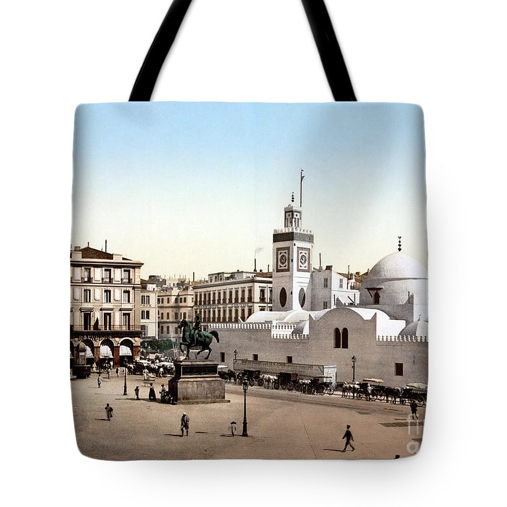 1899 Tote Bag featuring the photograph Algeria: Algiers, C1899 by Granger