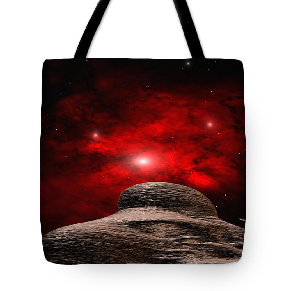 Space Tote Bag featuring the digital art Alien Planet by Robert aka Bobby Ray Howle