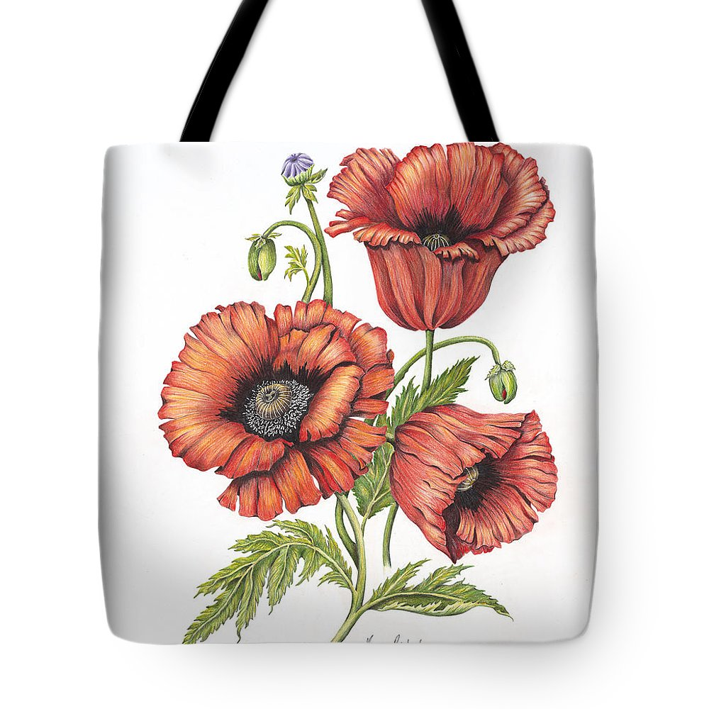 Poppy Tote Bag featuring the painting All About Poppies by Karen Risbeck