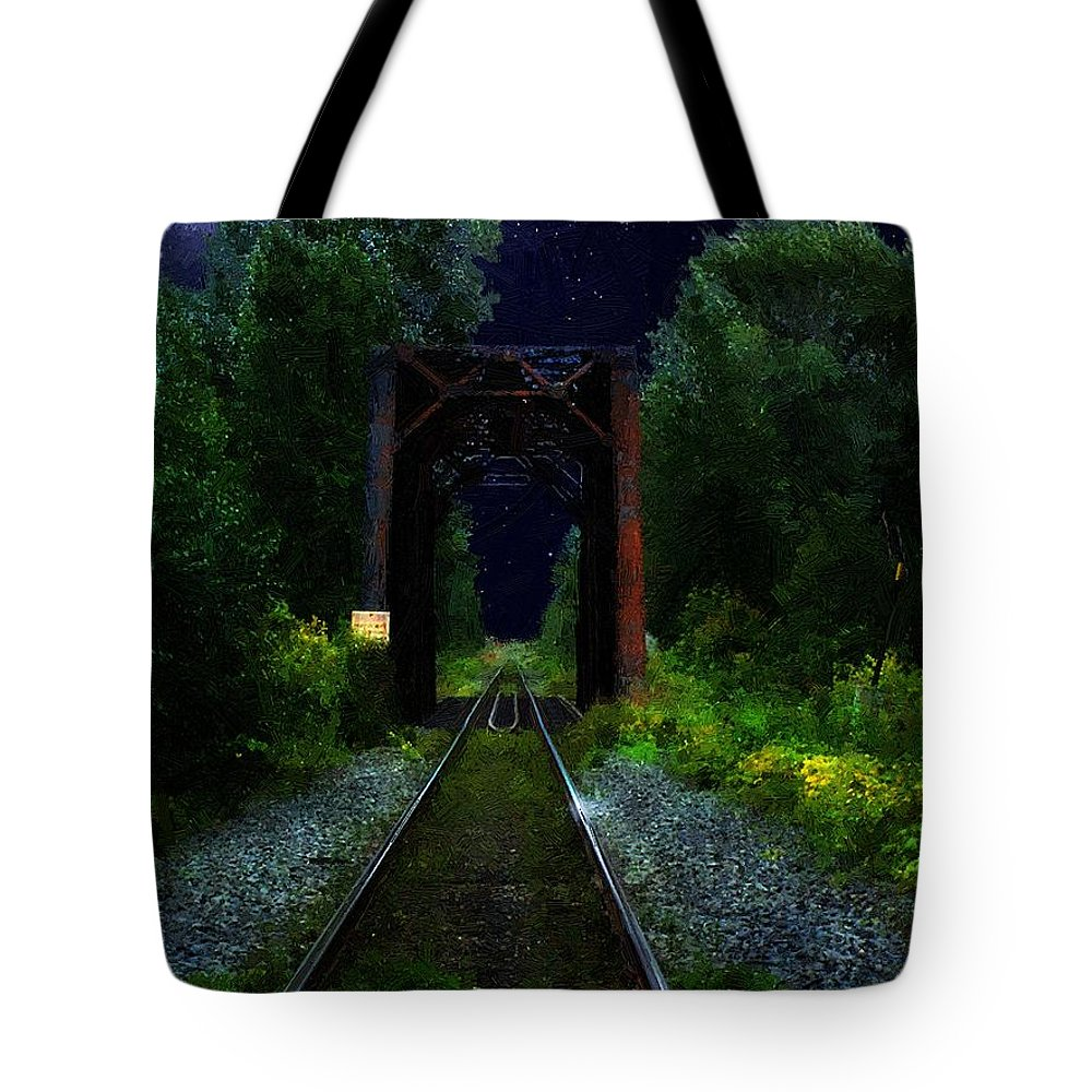 Canada Tote Bag featuring the painting All Down The Line by RC DeWinter