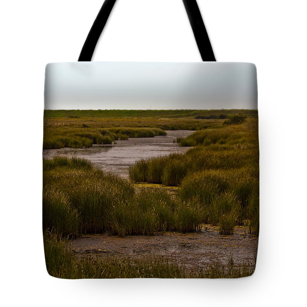 All Hallows On Sea Tote Bag featuring the photograph All Hallows Marshes by Dawn OConnor