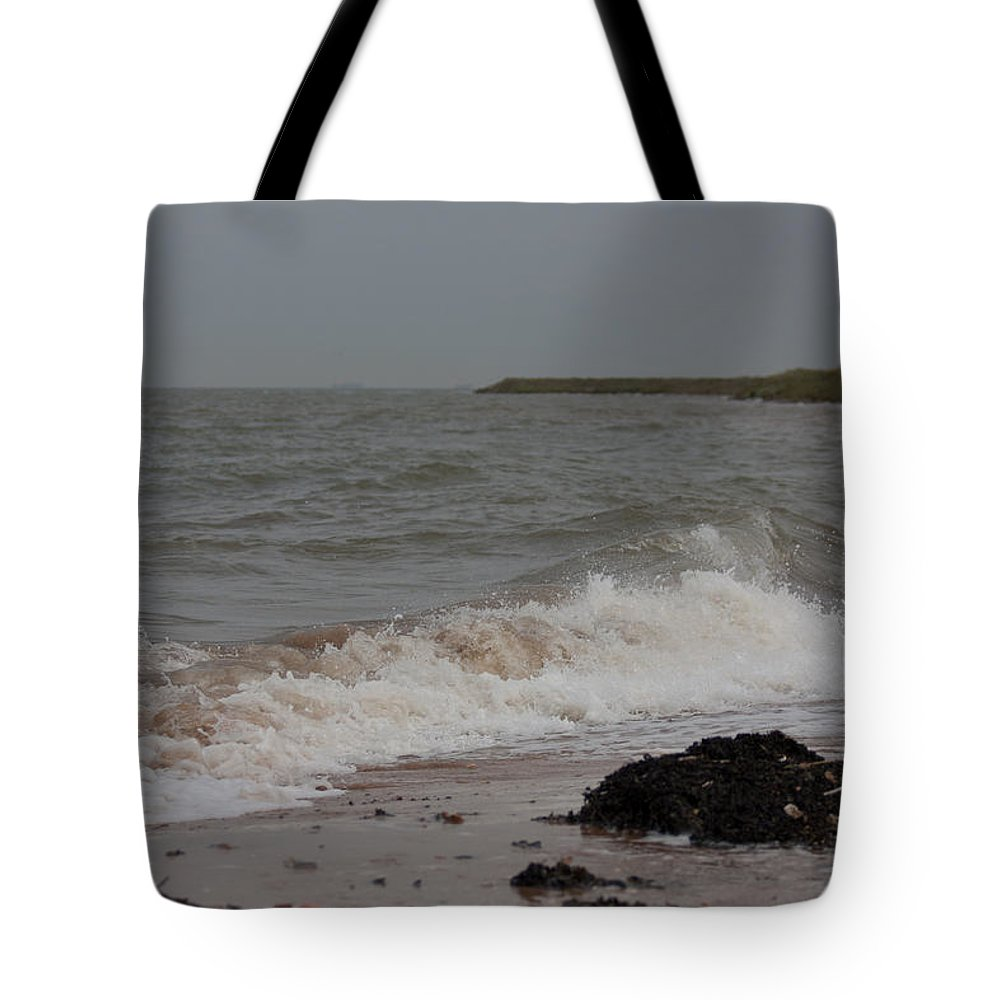All Hallows Tote Bag featuring the photograph All Hallows Wave by Dawn OConnor