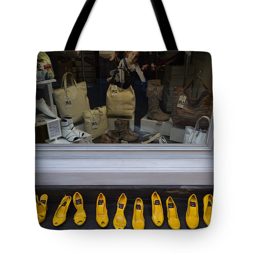 Tuscany Tote Bag featuring the photograph All Styles Available In Yellow by Roger Mullenhour