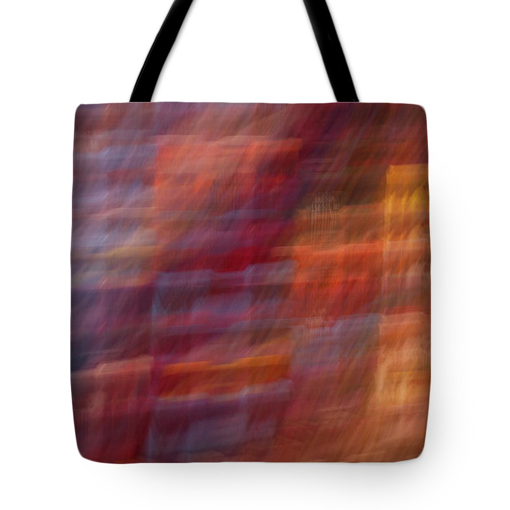 Abstract Tote Bag featuring the photograph All The Pretty Boxes by Susan Capuano