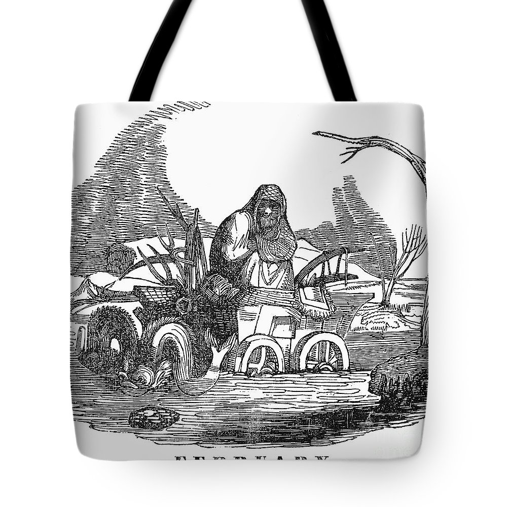 1837 Tote Bag featuring the photograph Allegory: February, 1837 by Granger