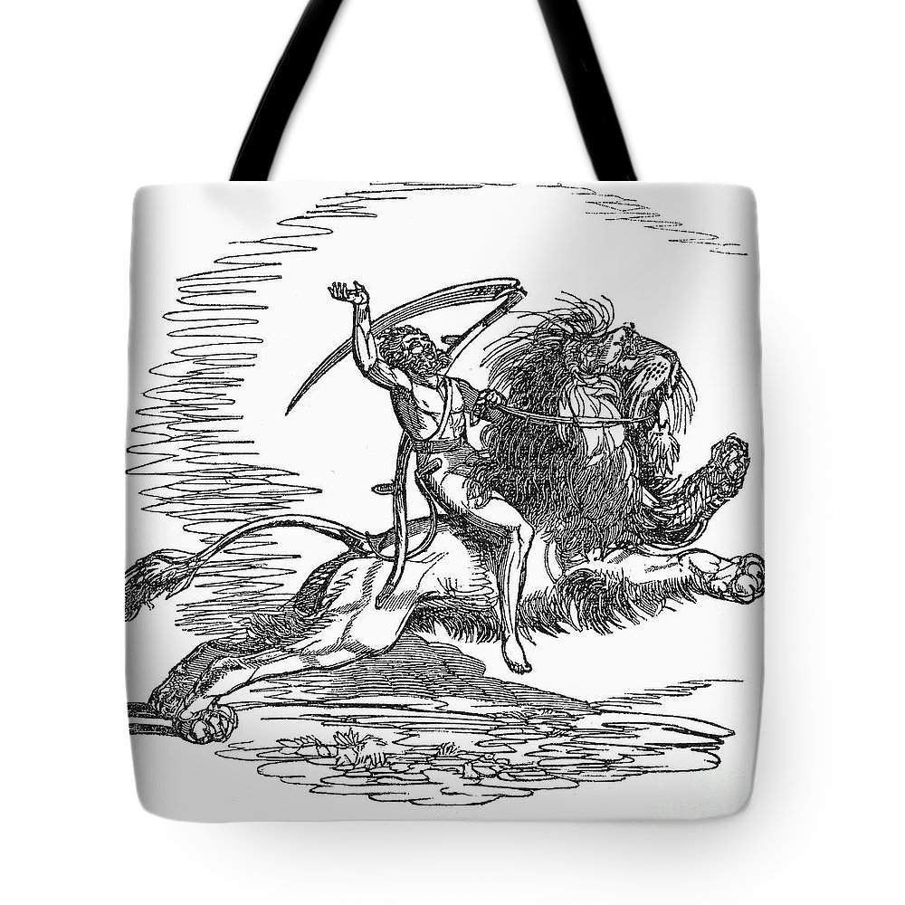1837 Tote Bag featuring the photograph Allegory: July, 1837 by Granger