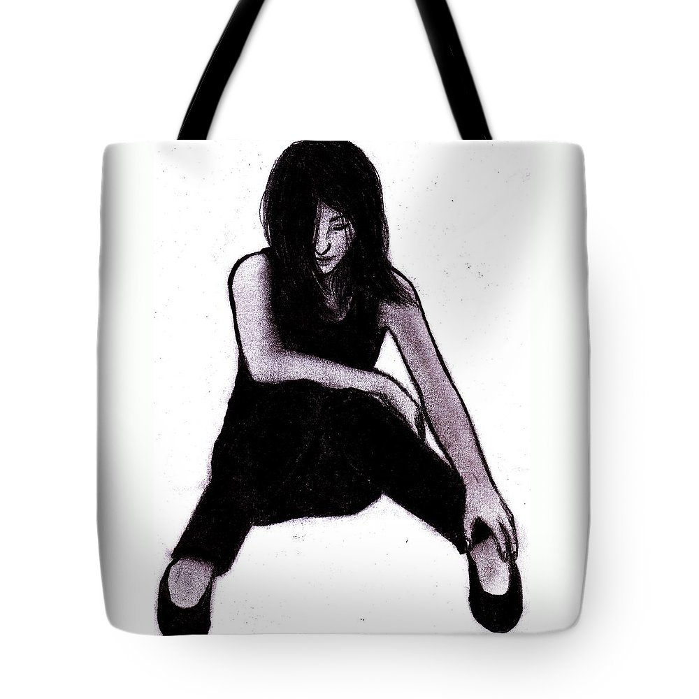 Woman Tote Bag featuring the digital art Alone And Alright by Toualith MEANGO