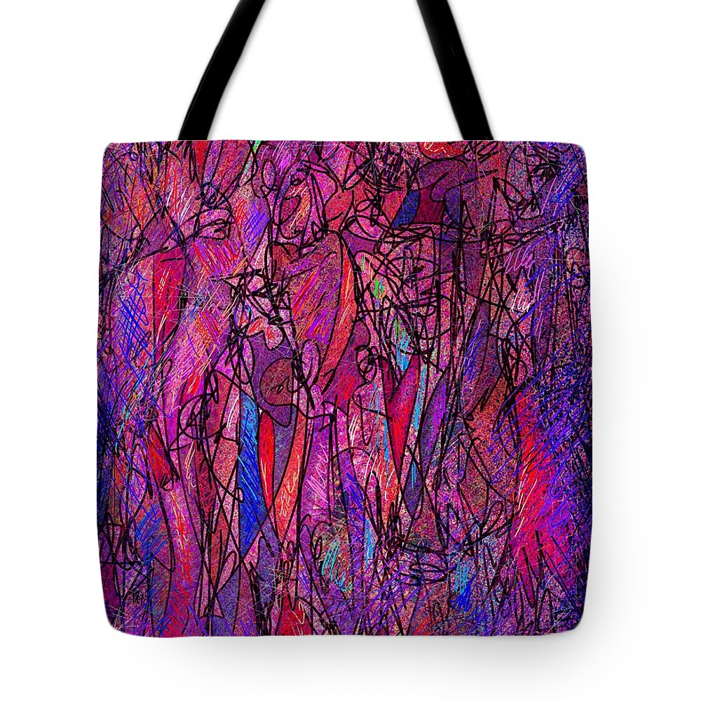 Figure Tote Bag featuring the digital art Alone In A Crowd by William Russell Nowicki