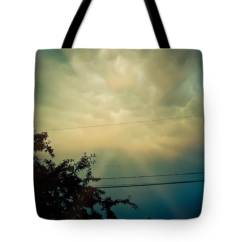 Cloud Tote Bag featuring the photograph Amazing Trinity by Trish Tritz