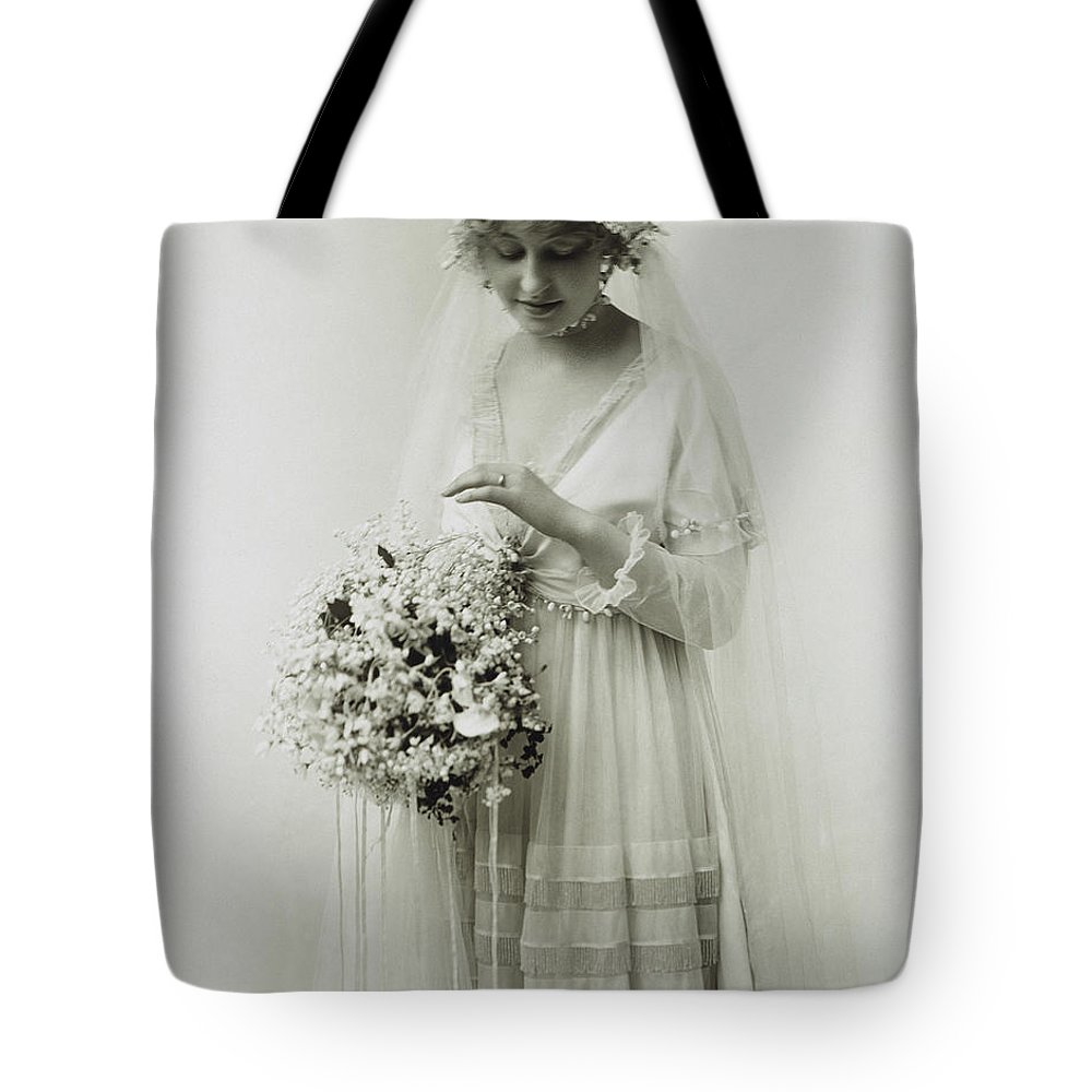 1925 Tote Bag featuring the photograph American Bride, C1925 by Granger