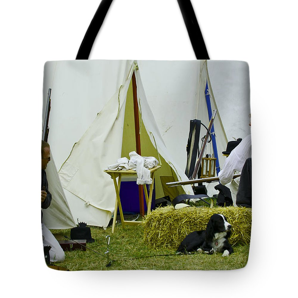 War Tote Bag featuring the photograph American Camp by JT Lewis