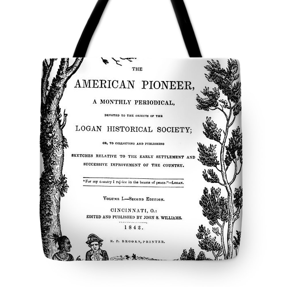 1842 Tote Bag featuring the photograph American Pioneer, 1842 by Granger