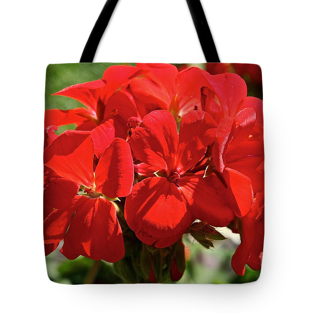 Flower Tote Bag featuring the photograph American's Red by Susan Herber