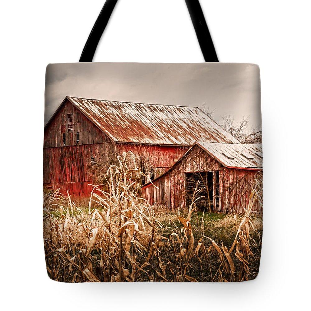America's Small Farm Tote Bag featuring the photograph America's Small Farm by Randall Branham