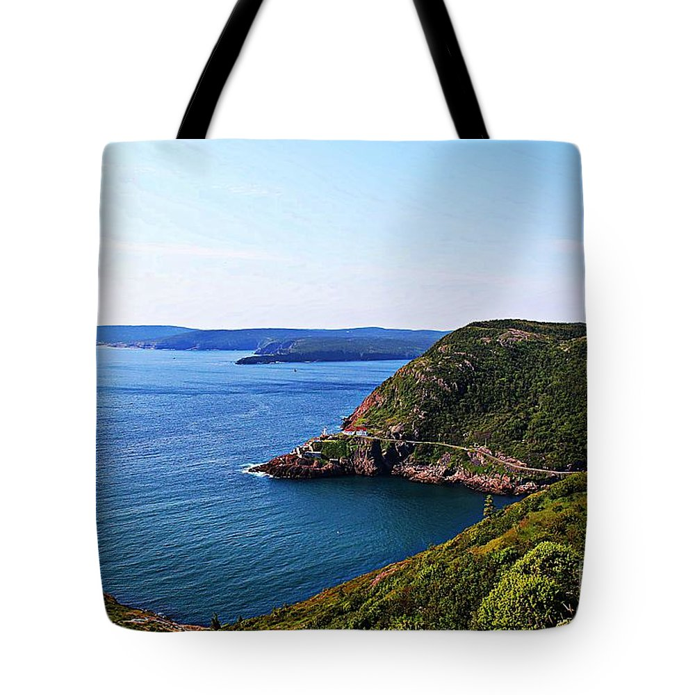 Amherst Rock Tote Bag featuring the photograph Amherst Rock by Barbara Griffin