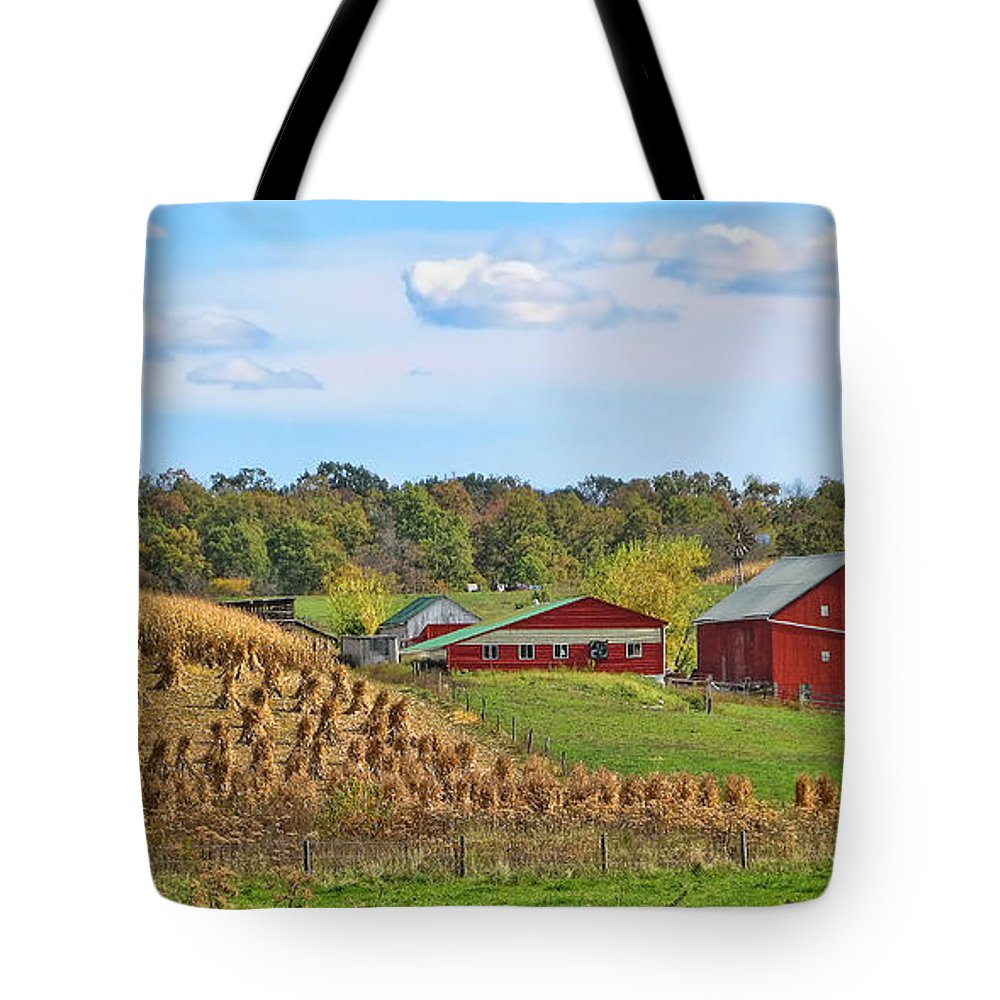 Amish Cornfield Tote Bag featuring the photograph Amish Cornfield by Jack Schultz