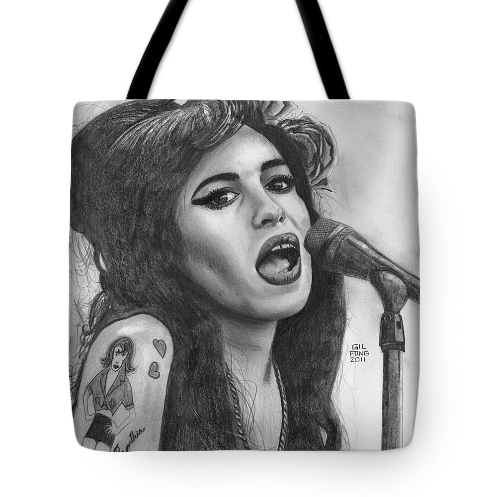 Amy Winehouse Tote Bag For Sale By Gil Fong