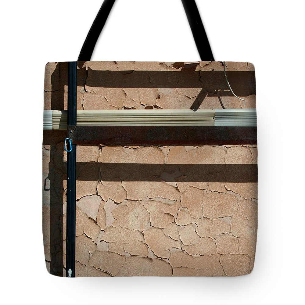Wall Tote Bag featuring the photograph An Abstracted Wall by Ric Bascobert