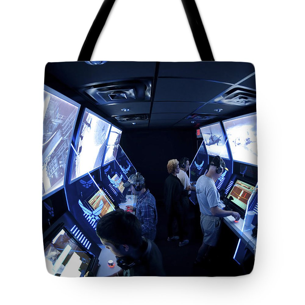 Interactive Tote Bag featuring the photograph An Interactive Display Room by Stocktrek Images