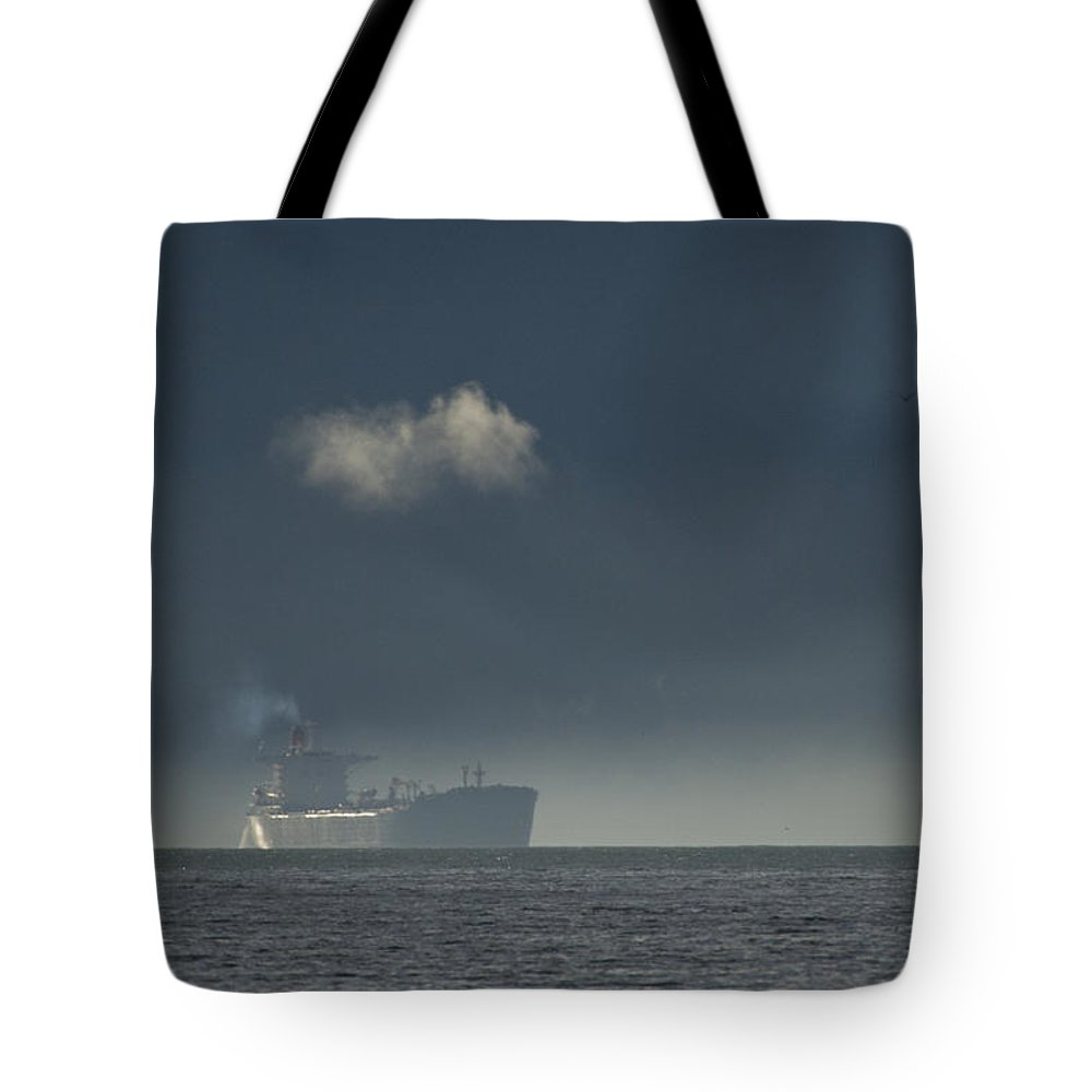Day Tote Bag featuring the photograph An Oil Tanker Cruises by Michael S. Quinton