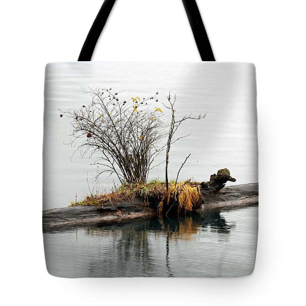 Lake Tote Bag featuring the photograph An Outpost by Marie Jamieson