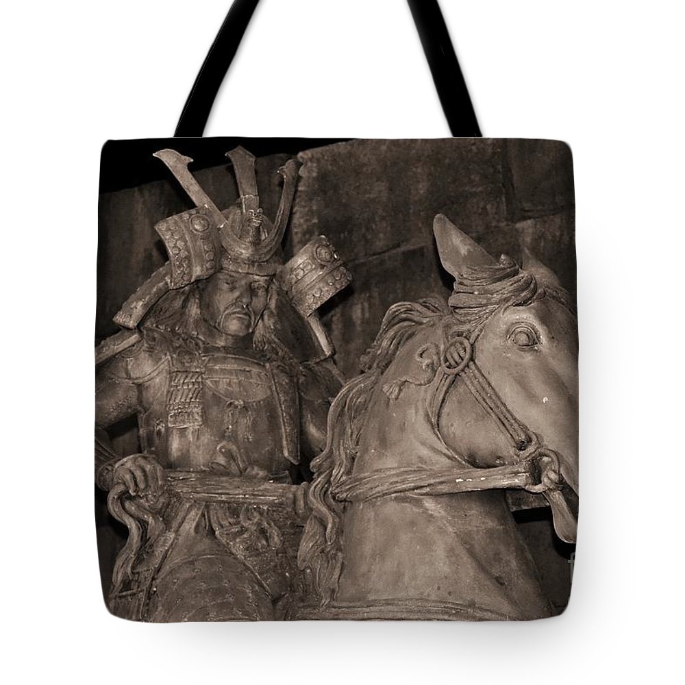 Photo Tote Bag featuring the photograph Ancient Warrior by Bonnie Myszka