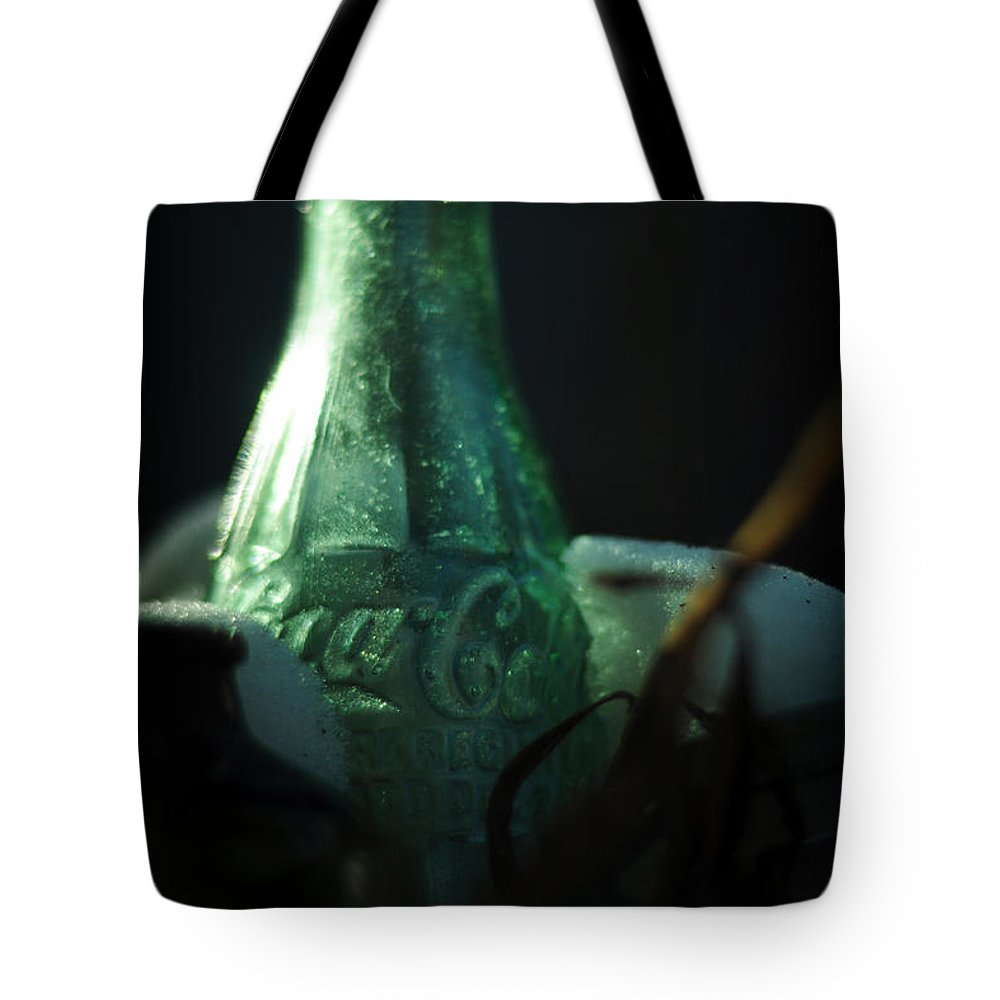 Coca Cola Tote Bag featuring the photograph And A Smile In Winter by Rebecca Sherman