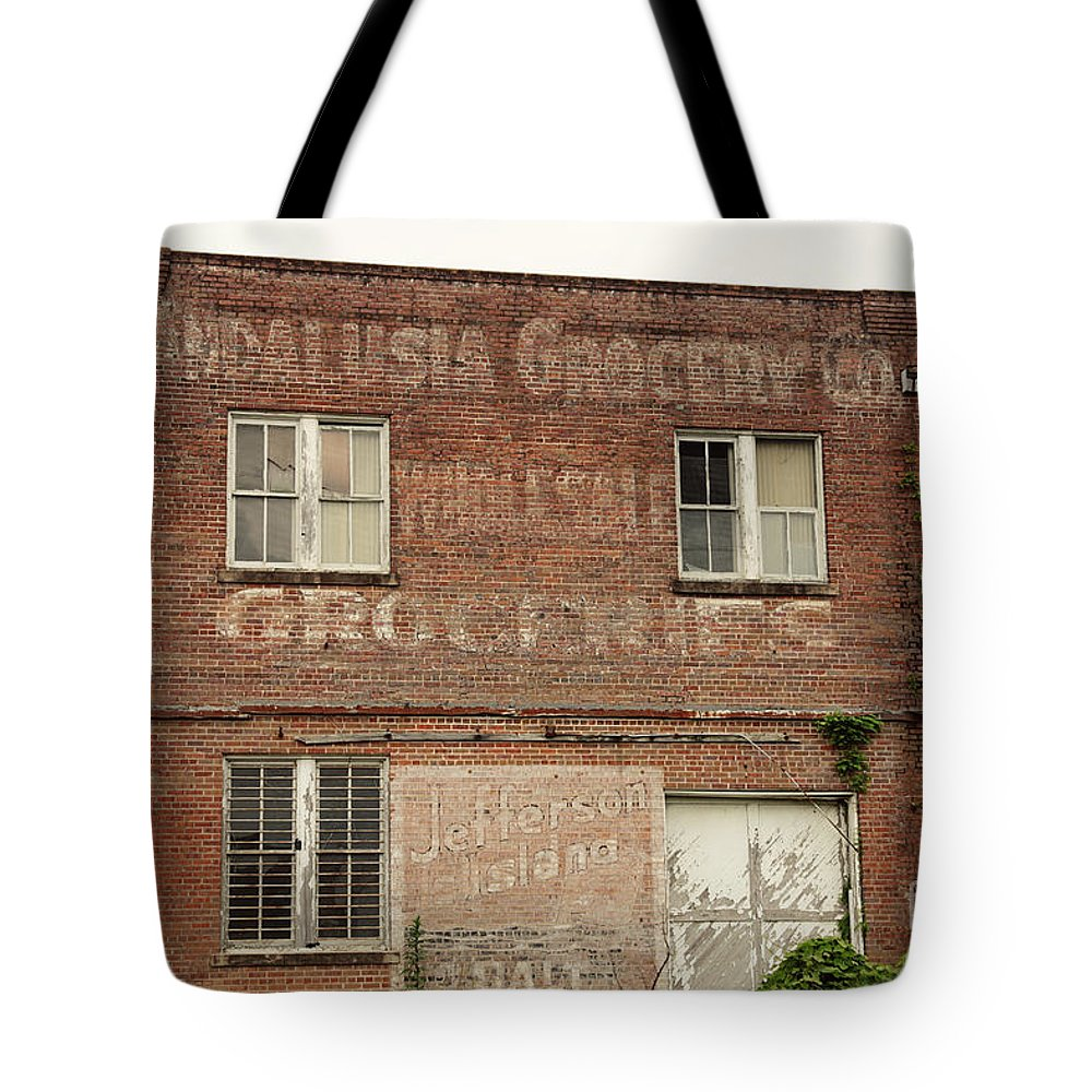 Andalusia Tote Bag featuring the photograph Andalusia Grocery Co by Erin Johnson