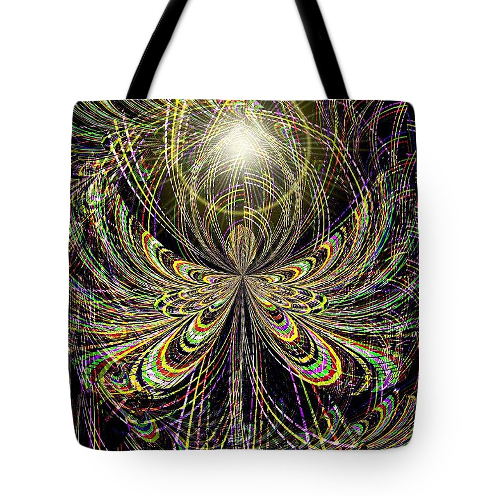Angel Tote Bag featuring the digital art Angel In The Midst by Maria Urso