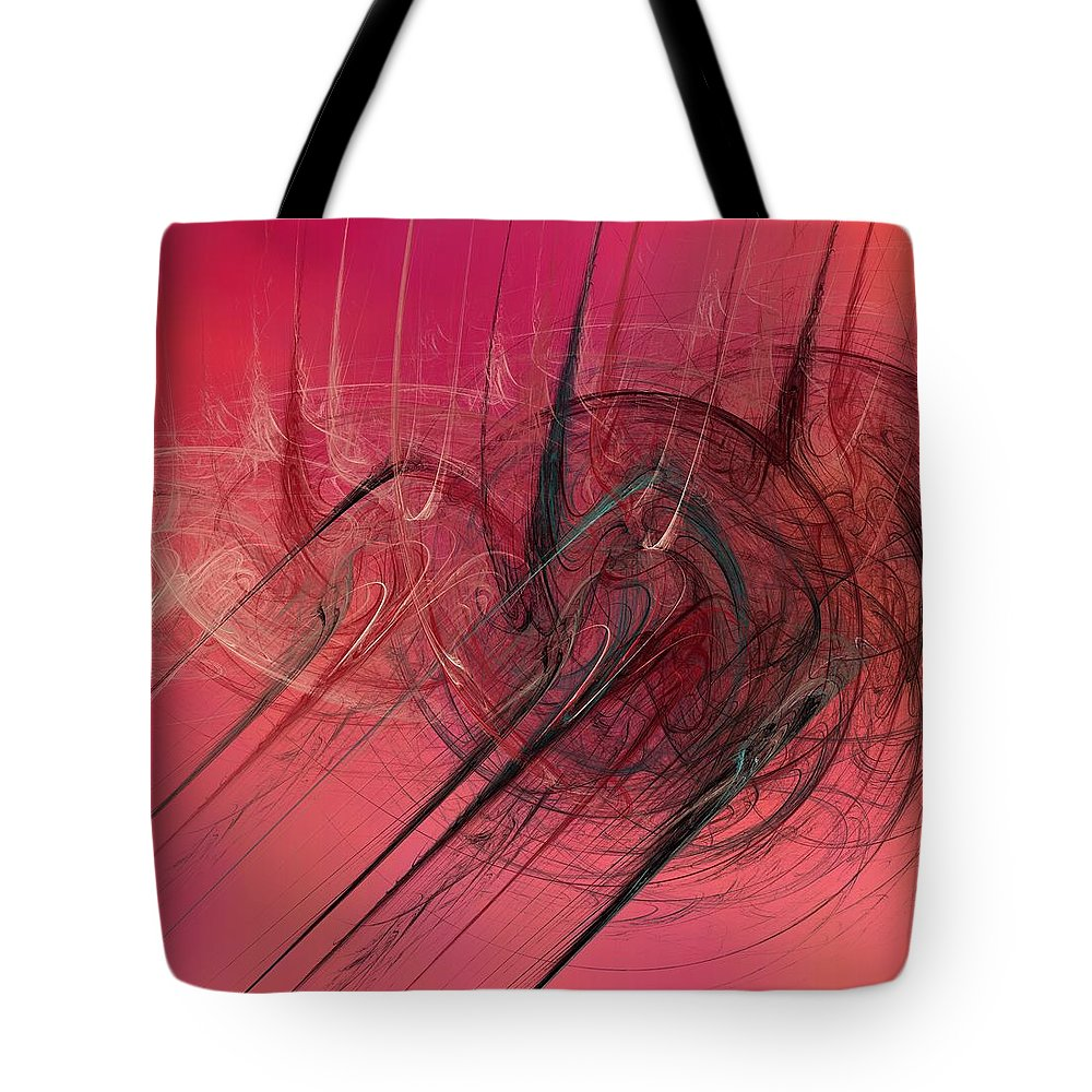 Digital Art Tote Bag featuring the digital art Anger by Christy Leigh