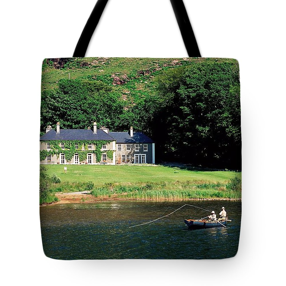 Boat Tote Bag featuring the photograph Angling, Delphi Lodge, Co Mayo, Ireland by The Irish Image Collection