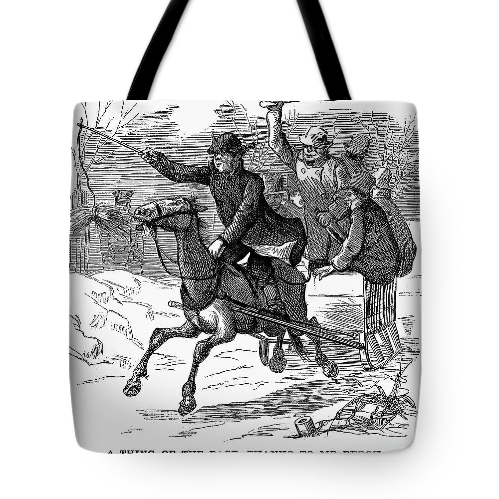 1877 Tote Bag featuring the photograph Animal Cruelty, 1877 by Granger