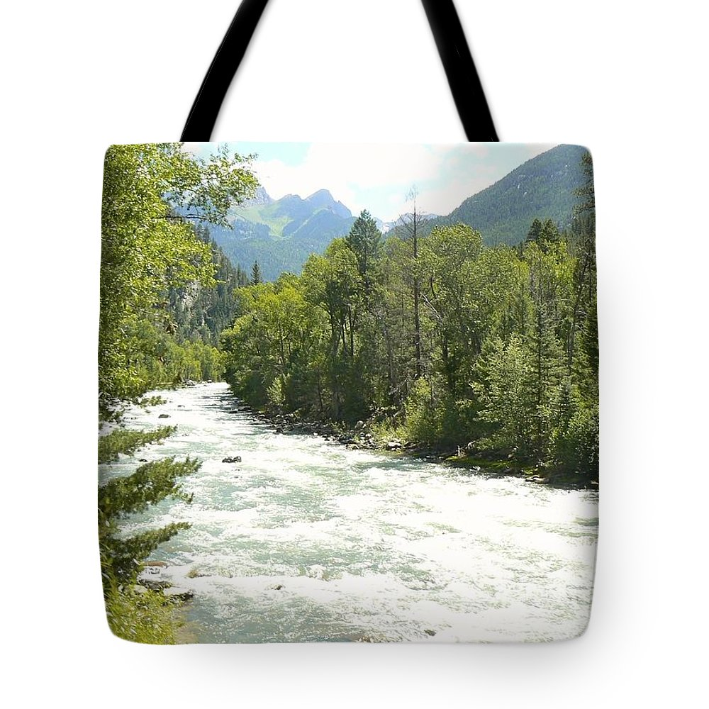 Water Tote Bag featuring the photograph Animas River Near Durango by Rincon Road Photography By Ben Petersen