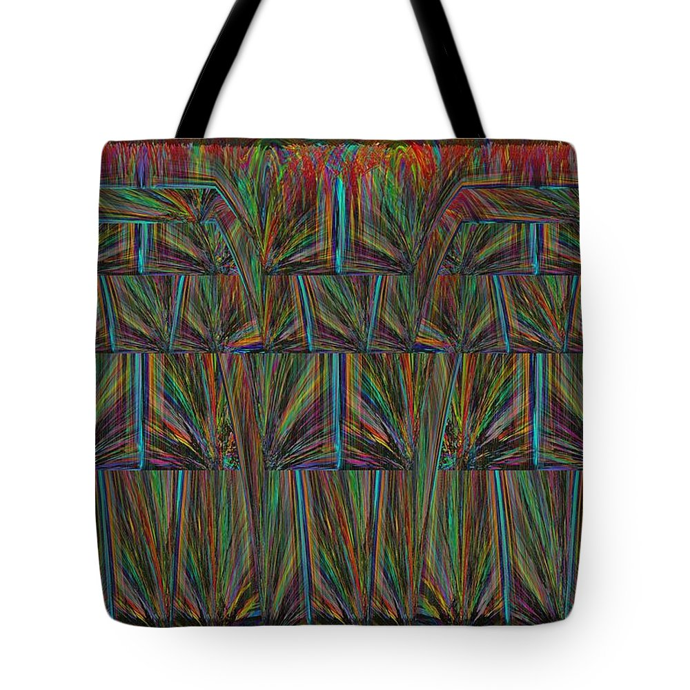 Abstract Tote Bag featuring the digital art Another Brick In The Wall 2 by Tim Allen